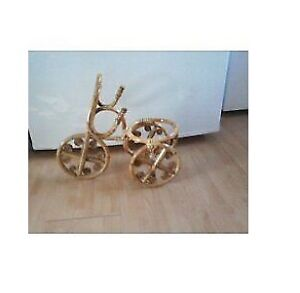 Bamboo Bicycle Shaped Flower Pot Holder