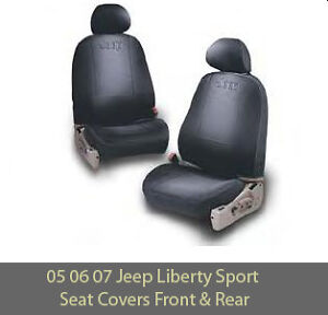 2005 2007 jeep liberty sport renegade seat covers front rear genuine mopar ebay. Black Bedroom Furniture Sets. Home Design Ideas