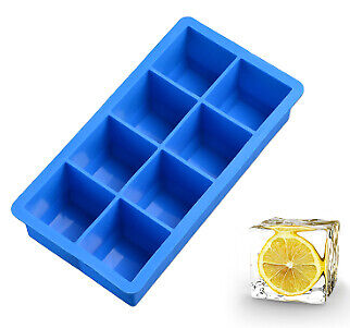8 Cavity 1.8inch Square Ice Tray Custom Silicone Ice Cube Mold For Cocktails](Custom Ice Cubes)