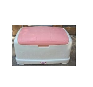 Little Tikes Large Toy Box with Pink Lid