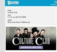 Culture Club - Rod Laver Arena - Melbourne - 8 tickets St Ives Ku-ring-gai Area Preview