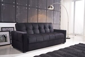 NEW - Modern black sofa bed couch