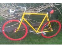 Custom Fixie bike, new tyres, hardly used