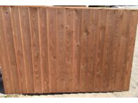 heavy duty feather edge - vertilap timber fence panel