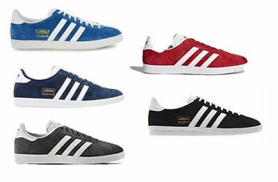Men's Adidas Gazelle OG Classic Trainers Sneakers Navy/Red/Grey/Black/Blue