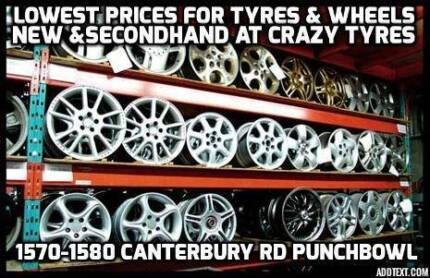14 inch Second Hand Used Tyre From $20 Each @ Crazy Tyres Bankstown Bankstown Area Preview