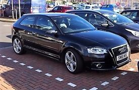 NEW PRICE Audi A3 S Line 3dr. Black/black half leather. new MOT, ECONOMY with sparkling performance.