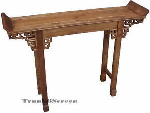 Oriental Style Furniture-Chinese Carved Console Table