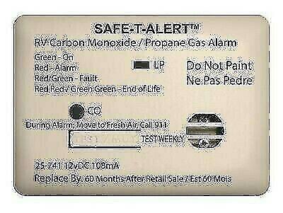Safe-T-Alert 25-741-WT Mini White Surface Mount CO/Propane Dual Gas Alarm