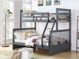 MEUBEL.CA   $499 - Twin/Full Bunk Bed  (4 colors available)