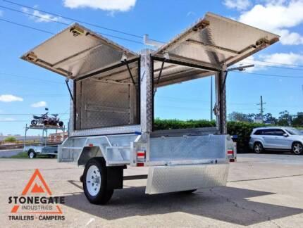 Tradesman Trailer 7x4 (Australian Made Aluminium Canopy) Brisbane