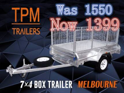 7x4 box trailer With 600 Cage ! Hot dip Galvanised