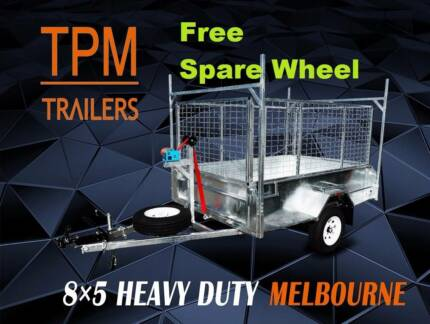 ATM1400KG 8x5 Heavy Duty Tipper Trailer 450mm Sides  LADDER RACK