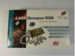 Lava Octopus-550 PCI 8 serial RS232 ports card