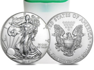 Silver coins: 20 x 1 oz American Eagle .999 pure (Mint state)