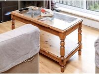 Wood and glass coffee table for sale
