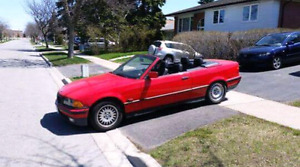 1995 BMW 318 convertible red MINT CONDITION
