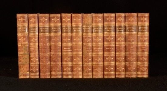 1874-75 12vols Library Set of The Works of Lord Lytton