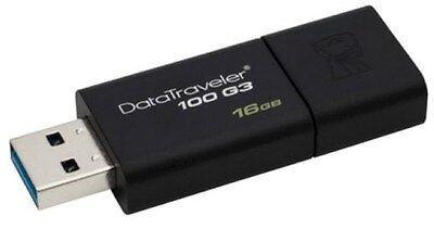 Kingston Datatraveler100 G3 16gb USB 3.0 Memoria Flash Pen Drive - Negro segunda mano  Embacar hacia Spain