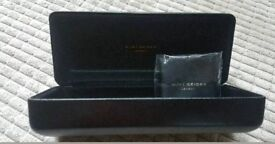 Kurt Geiger London empty glasses case with cloth in Black