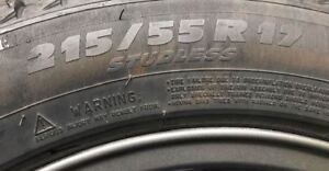 Set of 4 Michelin X Ice 215 55 R17 winter tires - like new