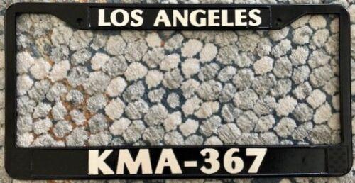 NEW LADP LOS ANGELES POLICE DEPT KMA-367 BLACK METAL License Frame CHP