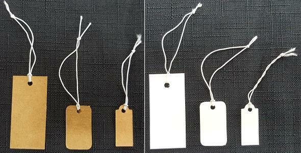 Elastic String Price Tags, Stretchy Strings Jewelry Price Label 100 Pieces