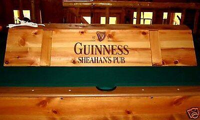 New Custom Guinness Pool Table Light Cue Rack Combo EBay - Guinness pool table