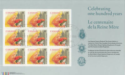 Canada 2000 Queen Mother 100th Birthday Souvenir Sheet Used for sale  Shipping to India