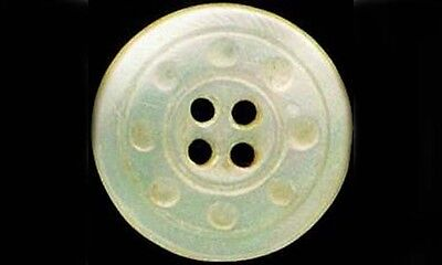 Antique Handcrafted 19thC Mother of Pearl Sea Shell Button Pin