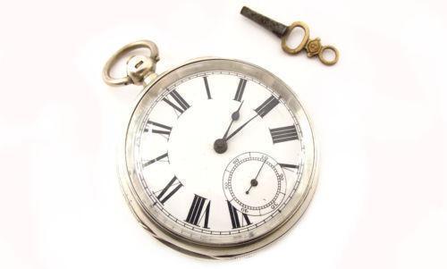 Silver Waltham Pocket Watch | eBay | 500 x 301 jpeg 14kB