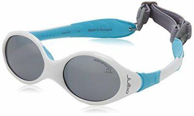 Julbo Kids White/Blue Frame Grey Lens Wrap Sunglasses
