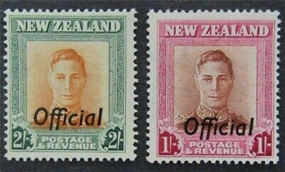 nystamps British New Zealand Stamp # O98, 99 Mint OG H $38   L23x3162