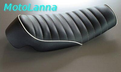 SEAT ROADSTER <em>YAMAHA</em> SR500 XS650 CB CAFE RACER BLACK W WHITE STITCHIN