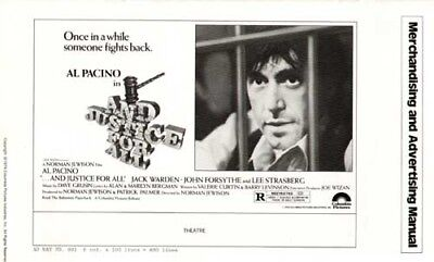 AND JUSTICE FOR ALL - 1979 - original Press Book - AL PACINO - 24 pages - 0 Cuts