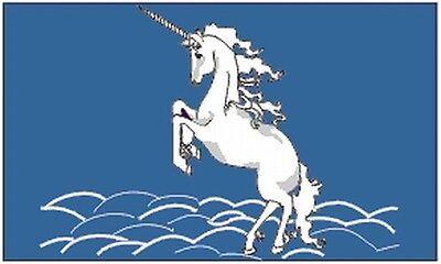 Unicorn Flag 3x5 feet Banner Blue Fantasy Wall Decoration Ho