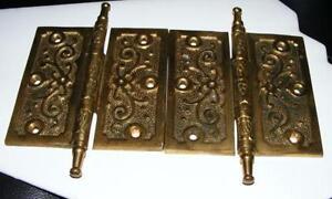 Vintage Brass Door Hinges