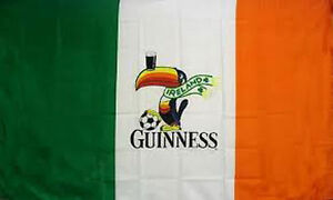 NEW 3ftx5ft GUINNESS IRELAND BEER IRISH FLAG SIGN