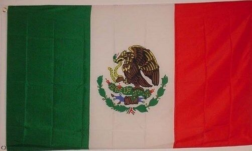 Mexican Mexico Flag  3 x 5 foot feet - Banner Pennant