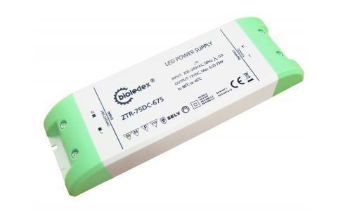 75W LED Trafo BIOLEDEX 12V DC Netzteil 6,25A Transformator  LEDs ZTR-75DC-675