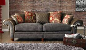 4 Seater sofa, Cuddle chair and Footstool
