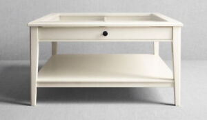 Ikea LIATORP coffee table white with glass top