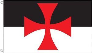 5' x 3' Knights Templar Crusades Flag Medieval Crusaders Masonic Banner