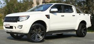 2015 Ford Ranger PX XL Double Cab White 6 Speed Manual Utility Southport Gold Coast City Preview