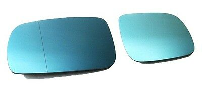 Audi A4 B5 A6 C4 C5 D2 Euro Wing Mirror Glass Tinted Blue Heated Anti Blind-Spot