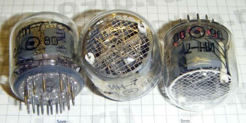 Lot 4 pcs IN-7 Large Nixie Tubes NOS Tested