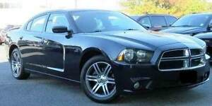 2014 DODGE CHARGER SXT MUSCLE CAR (SPORTS PACK)-BLACK/23950km
