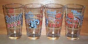 SHINER BOCK  4 PUB BEER PINT GLASSES SET NEW