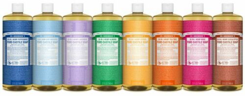 New - ALL Scents!  - Dr. Bronners Pure Castile Liquid Soap 32oz - Free Shipping