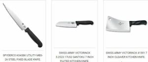 Shun Victorinox Kitchen Knives in Canada- S&R KNIVES